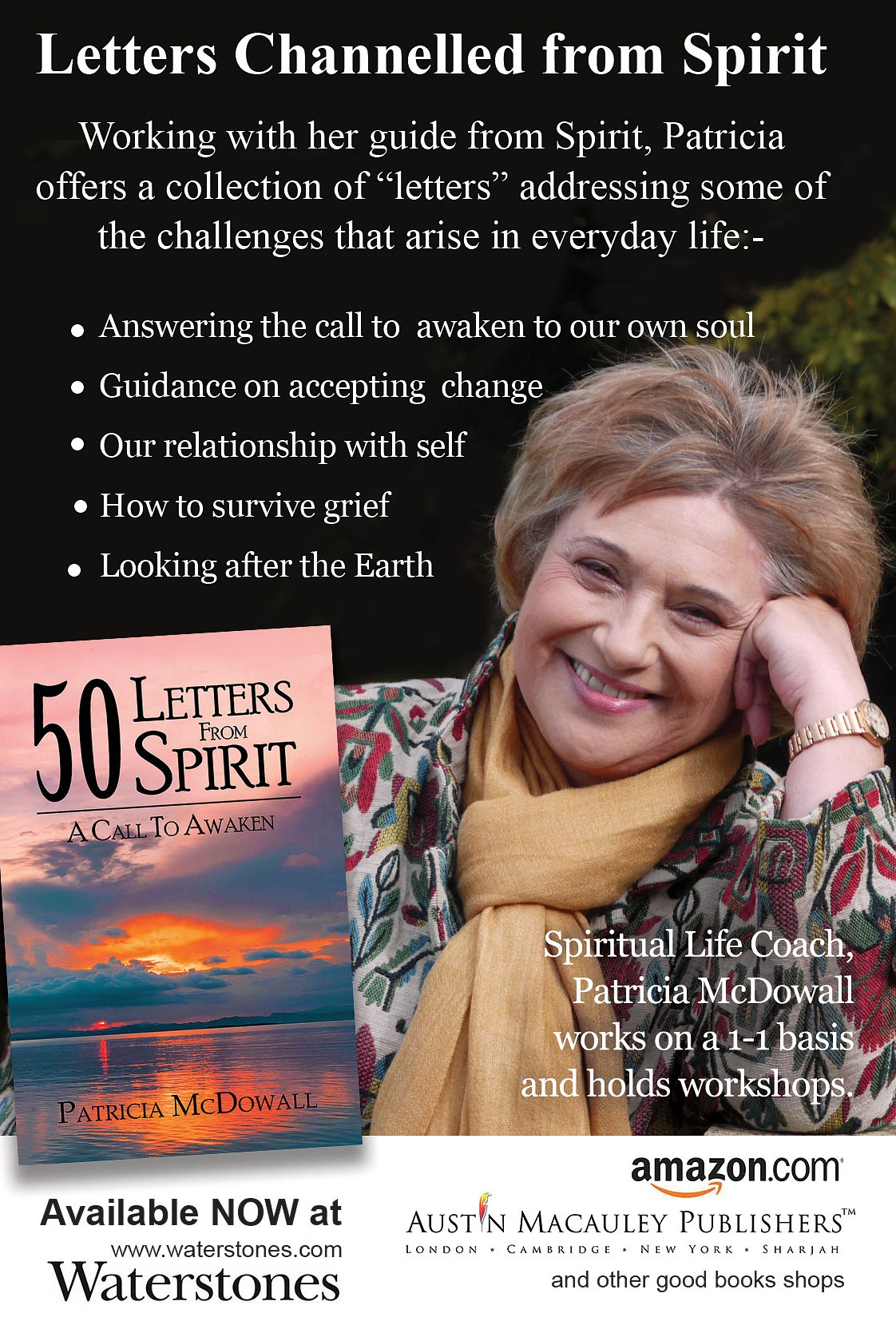 patricia mcdowall, 50 letters from spirit, spiritual books, spiritual author
